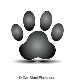 vector of paw print
