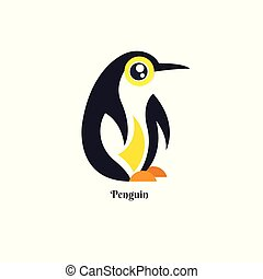 Vector of Penguin design on white background. Wild Animals. vector illustration. image. South Pole