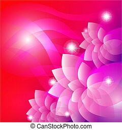 Vector of pink flower background