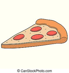 vector of pizza