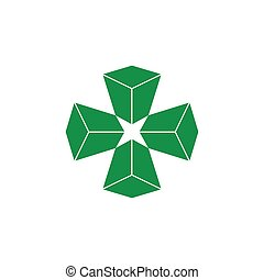 vector of plus medical 3d logo