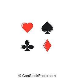 vector of poker card symbol icon illustration