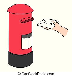 vector of postbox