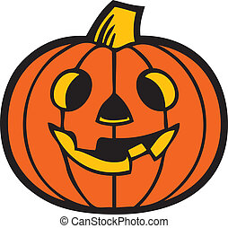 Vector of Pumpkin - Illustration of a Halloween Pumpkin