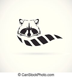 Vector of raccoon design on white background. Wild Animals. Raccoon logo or icon. Easy editable layered vector illustration.