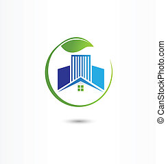 Vector of Real estate house logo