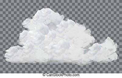 Vector of realistic white cloud on transparence background.