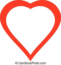 Vector of red heart icon illustration isolated on white background.