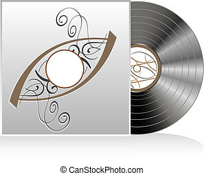Vector of retro vintage vinyl record
