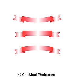 Vector of ribbon or empty red label isolated on white background.