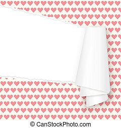 ripped open paper hearts - vector of ripped open paper ...