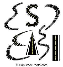 vector of road set