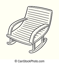vector of rocking chair