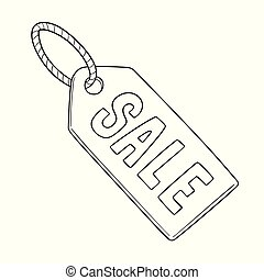 vector of sale tag