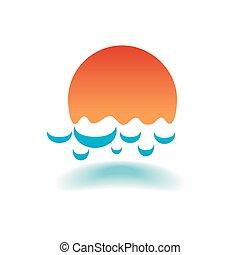 vector of sea waves