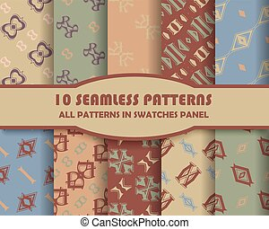 Vector of Seamless Patterns set