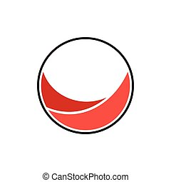 vector of simple curves circle logo