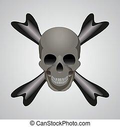 vector of skull