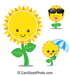 Vector of smile sunflower