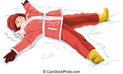 Vector of snow angel boy.