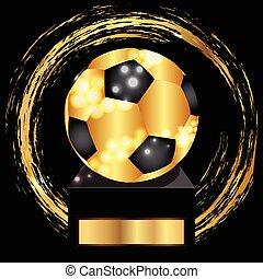 Vector of soccer ball gold