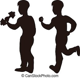 Vector of sport silhouettes