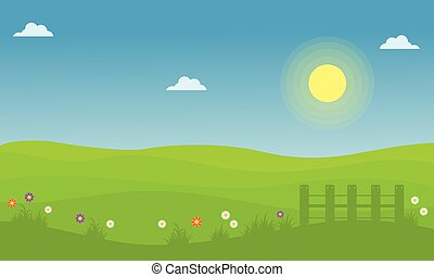 Vector of spring landscape collection