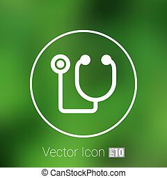 Vector of stethoscope icon on isolated background