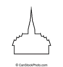 vector of temple,thailand