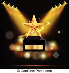 Vector of the award with a gold star