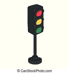 vector of traffic light
