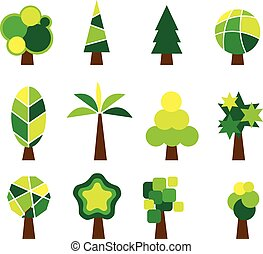 Vector of Tree Set Icon