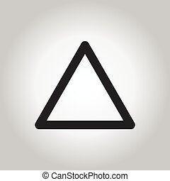 Vector of triangle icon on gray/white background