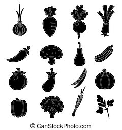 vector of Vegetables icon set