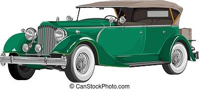 Vector of vintage car.