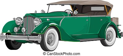 Vector of vintage car.