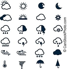 Vector of Weather icons set
