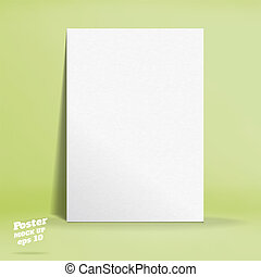 Vector of White paper poster in pastel colorful lime light...