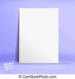 Vector of White paper poster in pastel colorful purple...