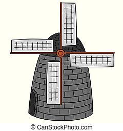 vector of windmill