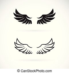 Vector of wing design on white background. Wing icon or logo. Animal. Easy editable layered vector illustration.
