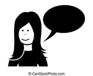 Vector of Woman speaking