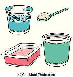 vector of yogurt