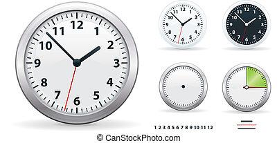 Vector office clocks