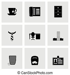Vector office icon set