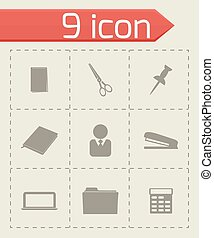 Vector office icons set