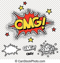 Vector Oh My God Comic Illustration