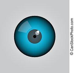 vector, ojo, pelota