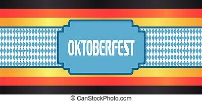Vector Oktoberfest beer festival