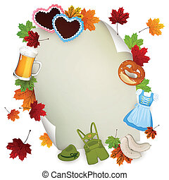 Vector Oktoberfest Elements - Vector Sheet of Paper with...